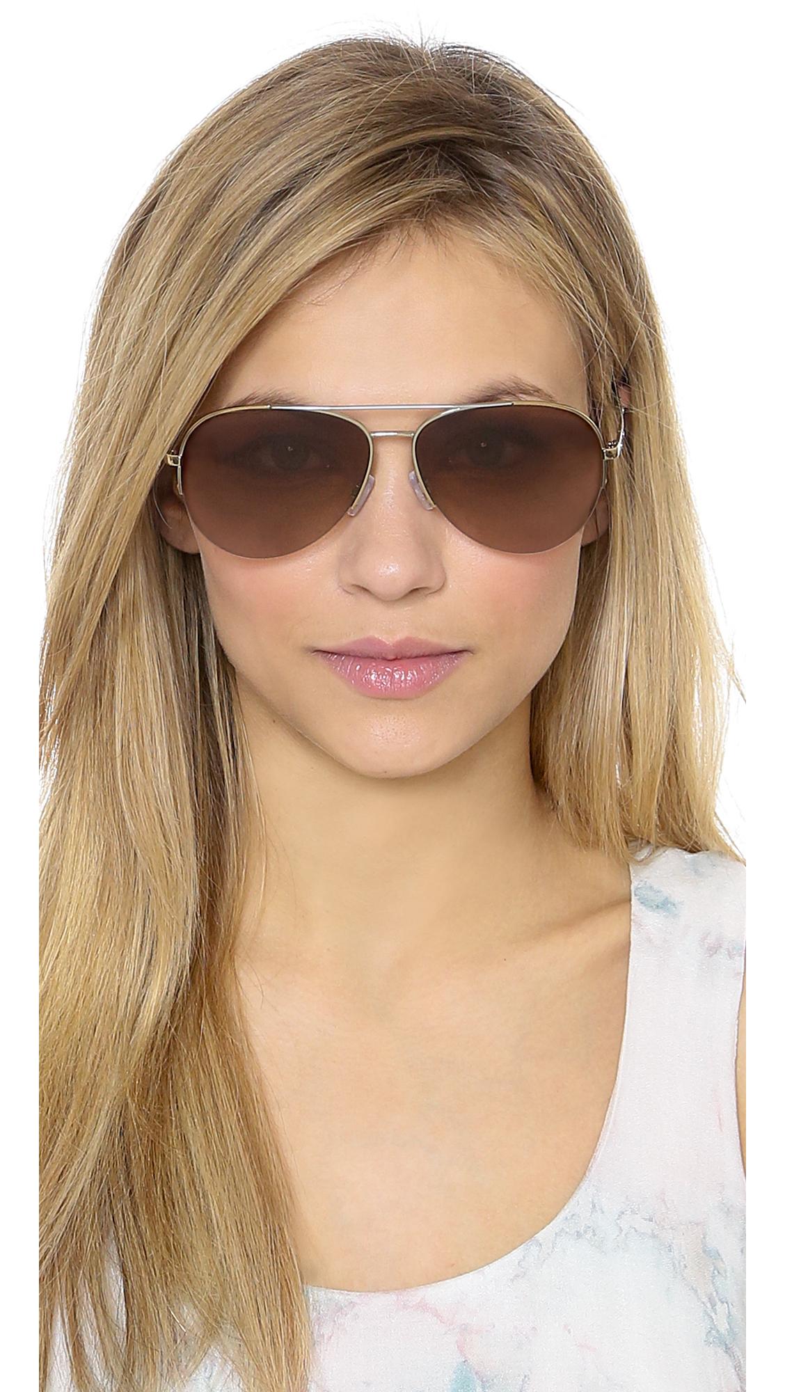 Lyst Michael Kors Gramercy Sunglasses Gold Rose Gold