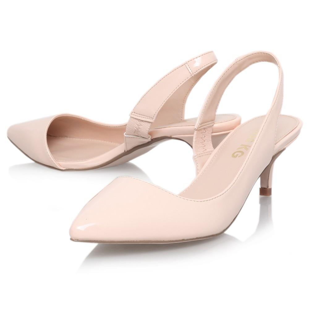 Beige Kitten Heel Shoes