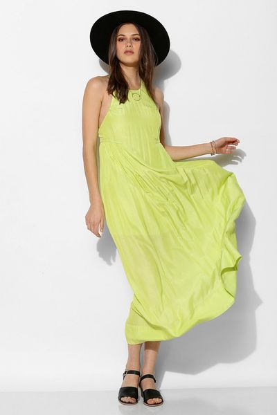 Urban Outfitters Yellow Dress ~ Huarache Sandals