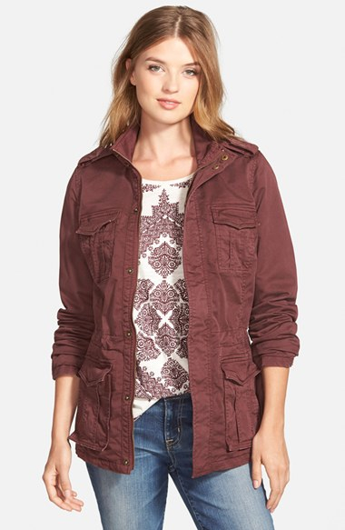 Lucky brand Military Jacket in Purple | Lyst