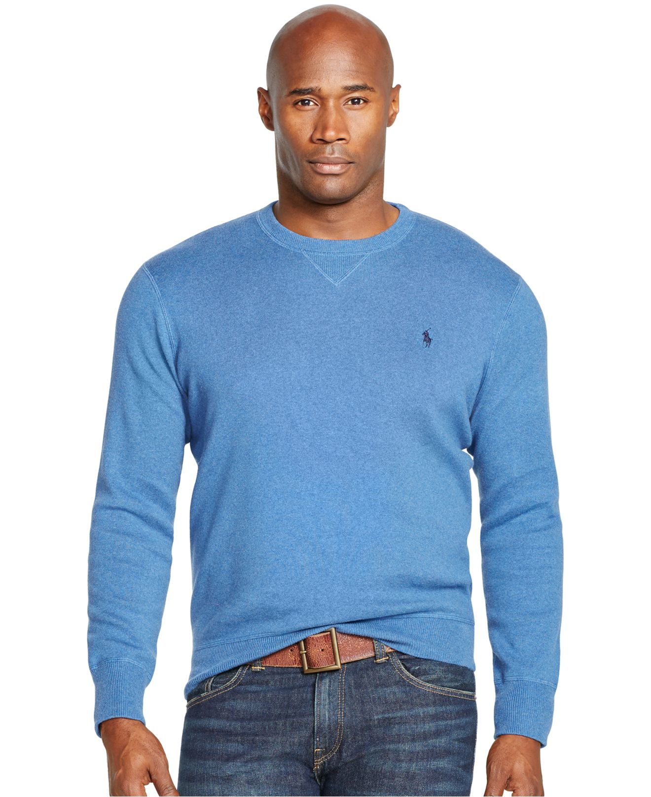 Polo ralph lauren Big And Tall Cotton Crewneck Sweatshirt in Blue ...