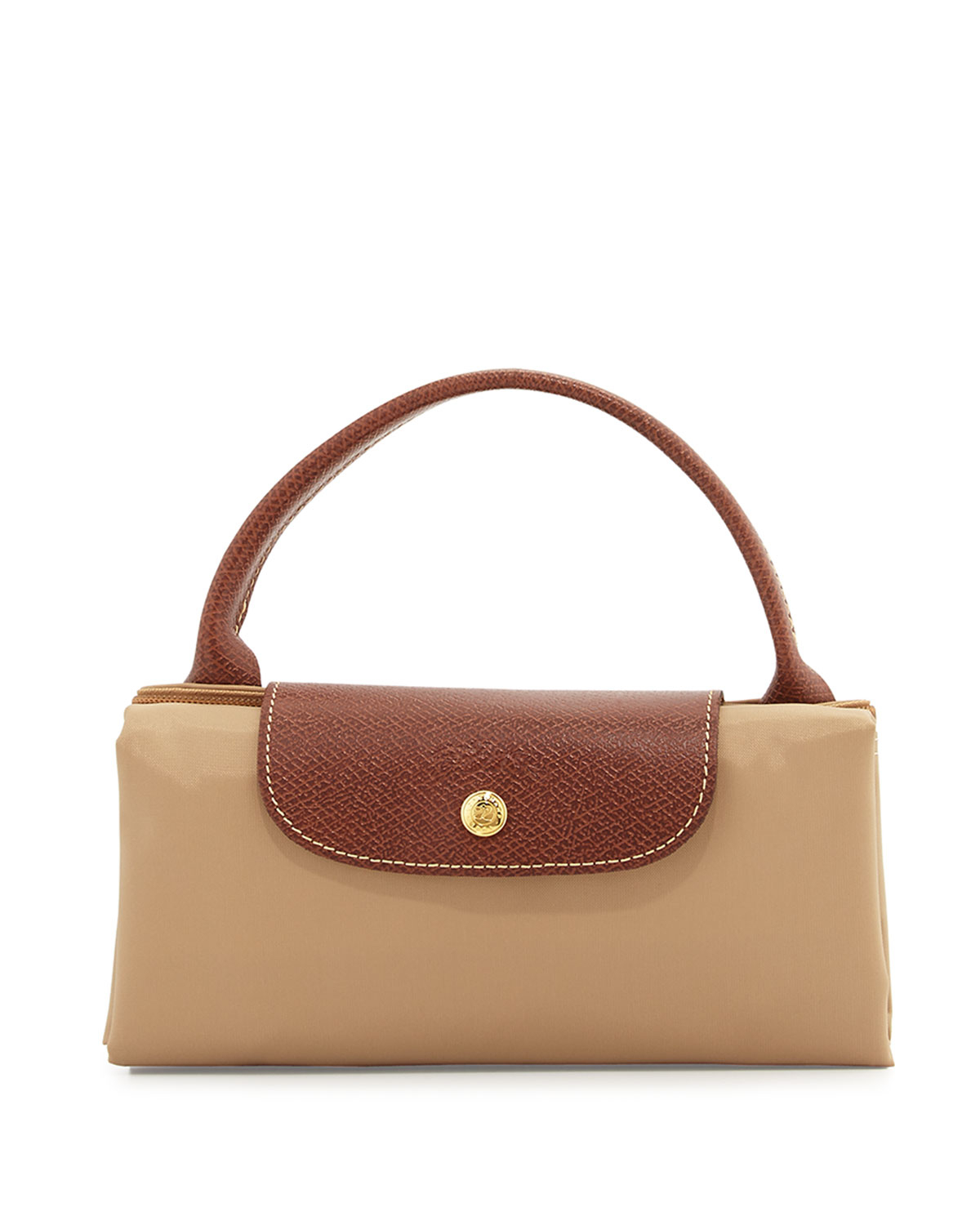 Longchamp Le Pliage Weekend Travel Bag in Brown | Lyst