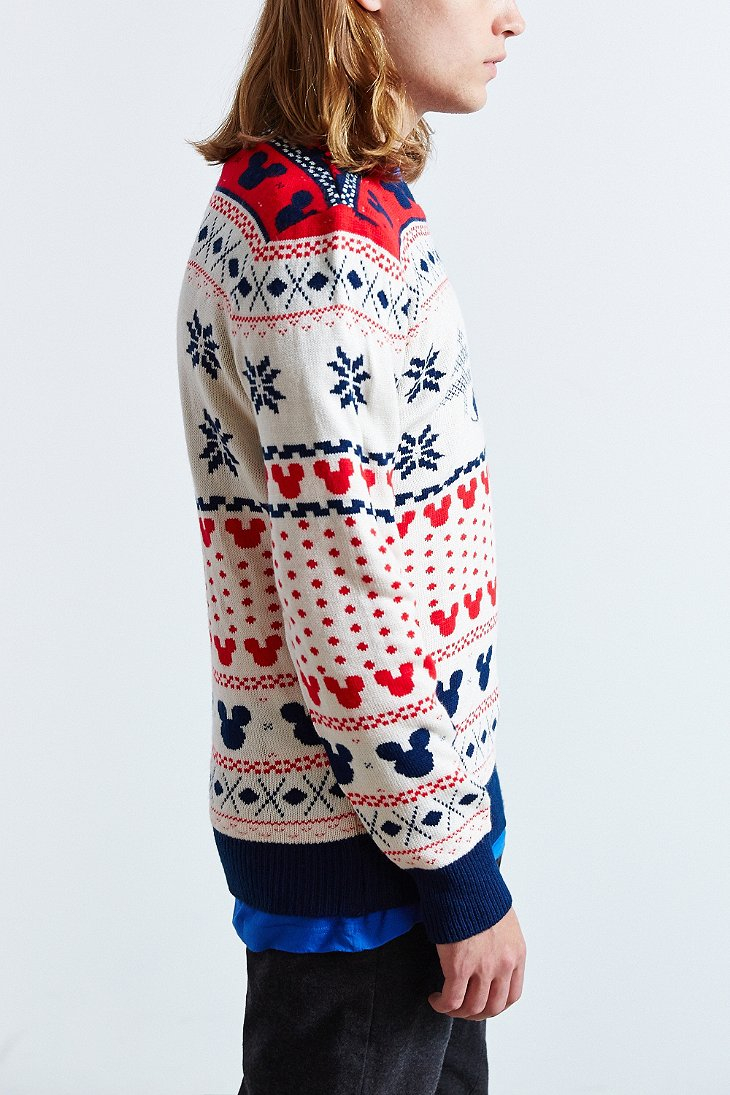Urban outfitters Mickey Mouse Fair Isle Crew Neck Sweater in ...
