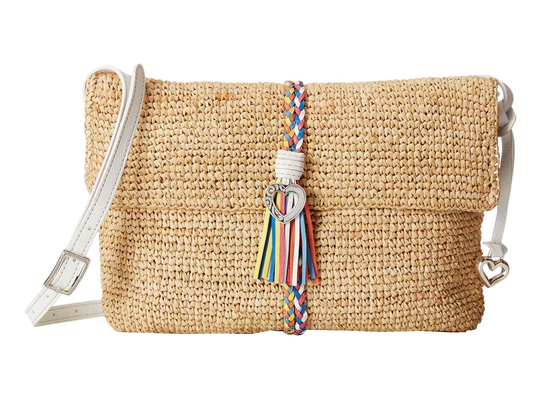 Brighton Bali Straw Shoulder Bag In Natural Lyst