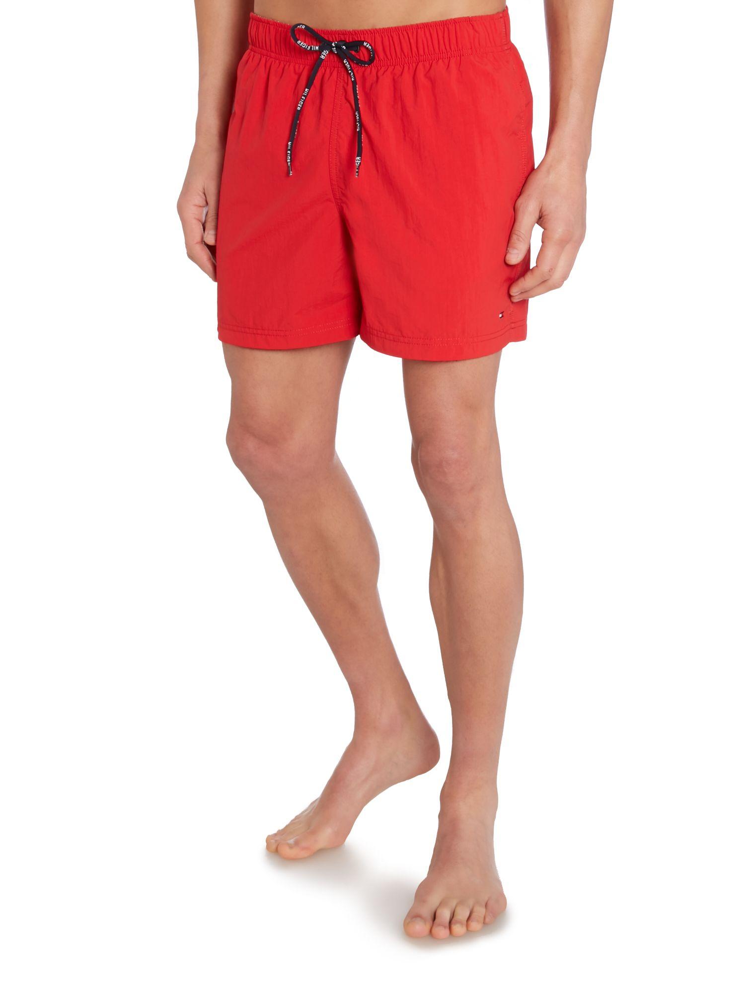 lyst tommy hilfiger classic swim short in red for men. Black Bedroom Furniture Sets. Home Design Ideas