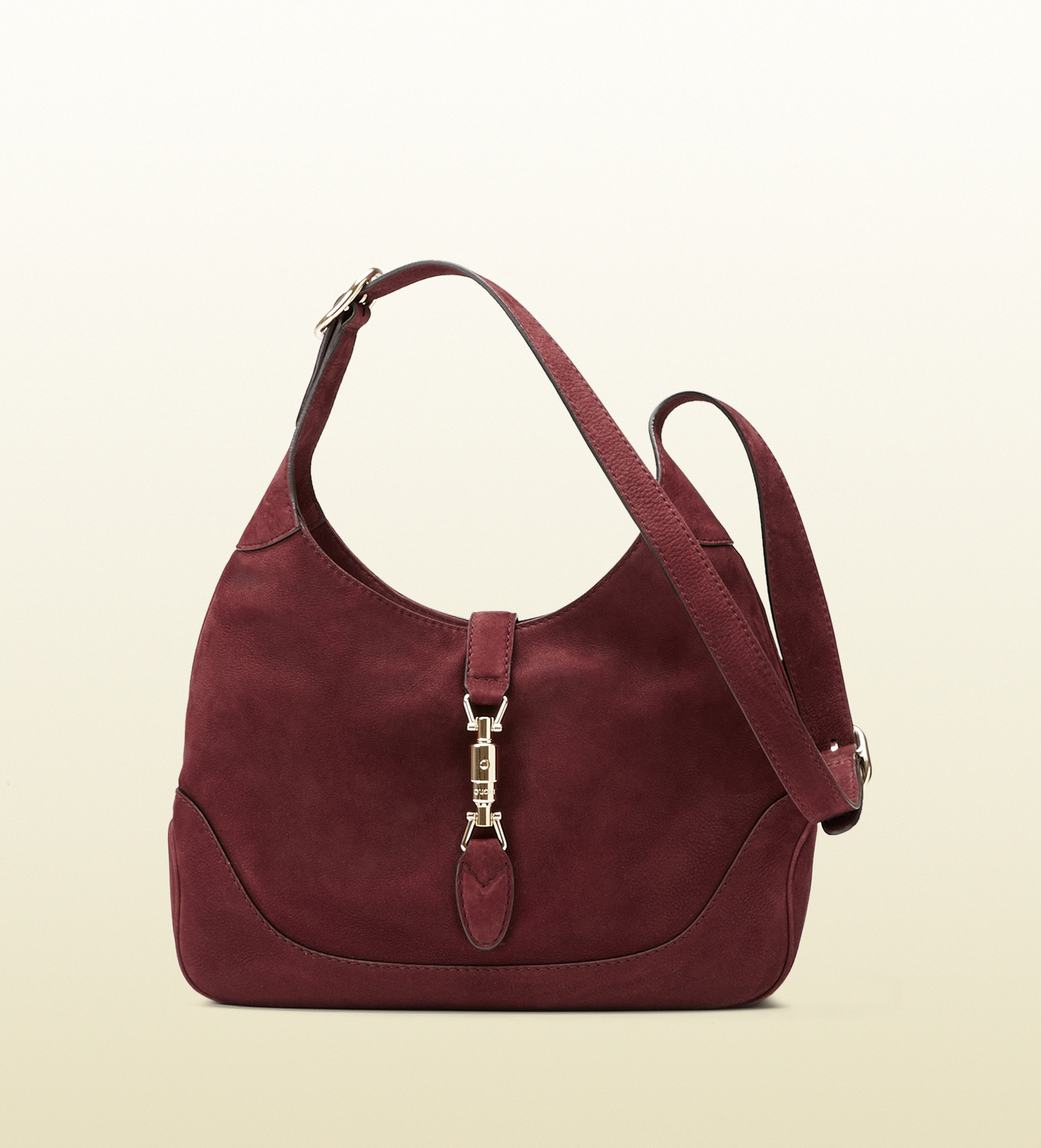 Gucci Jackie Suede Shoulder Bag in Purple | Lyst