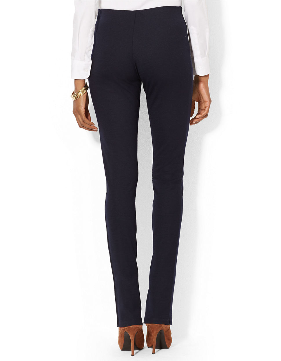Excellent Women Pants 2015 Spring Summer Slim Thin Elegant OL Office Black Formal Pants Woman Straight ...