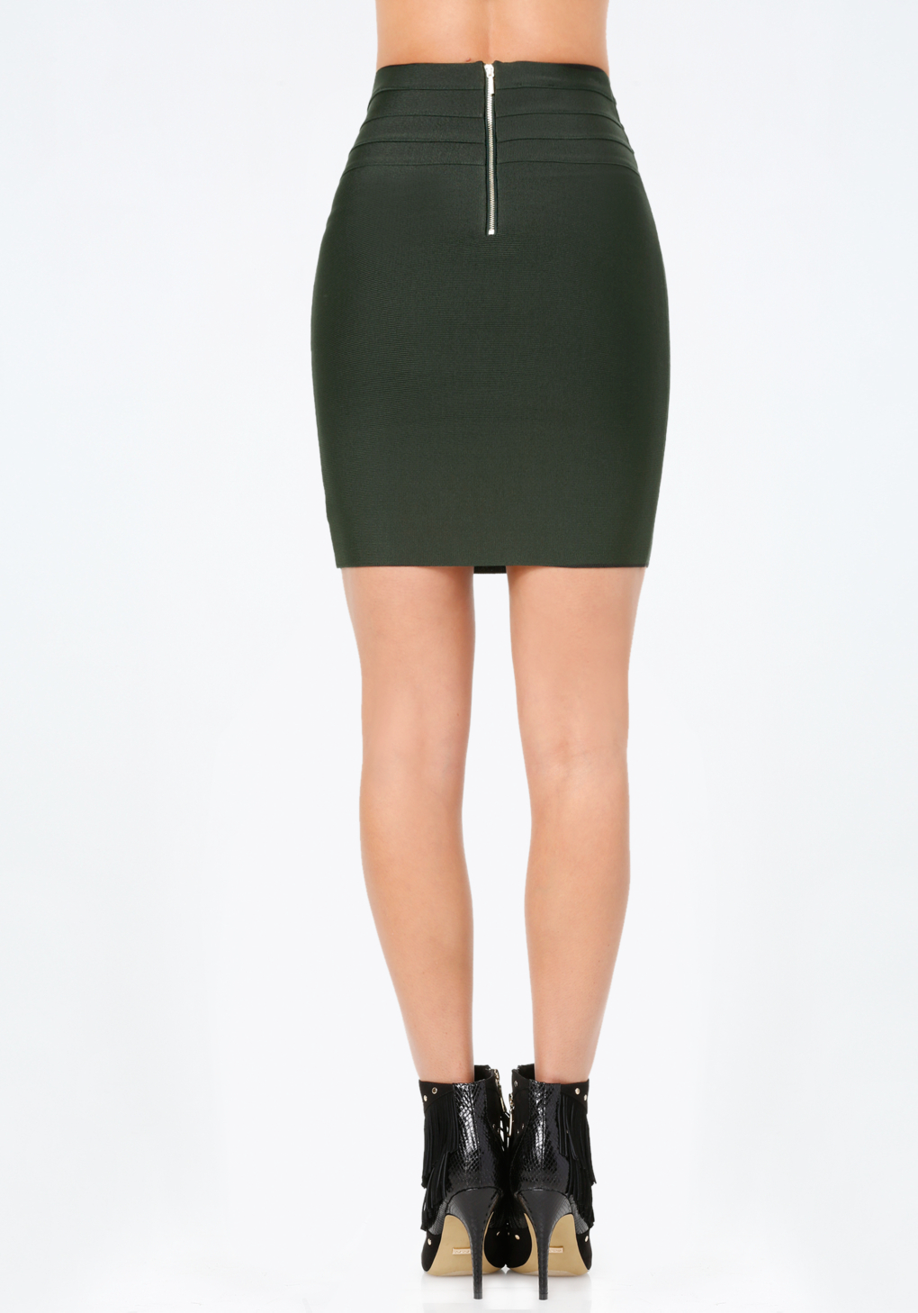 bebe high waist bodycon skirt in green lyst