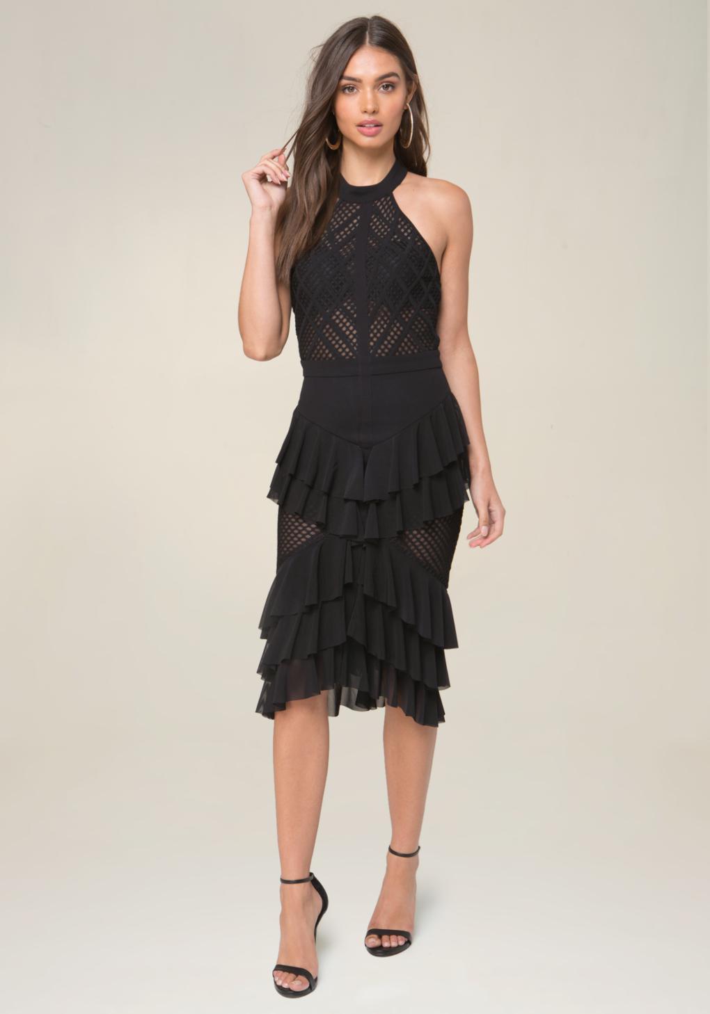 Black bebe paillette dresses