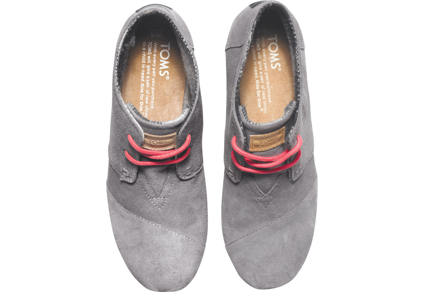 6291d4a4629 Lyst - TOMS Charcoal Suede Women S Desert Wedges in Gray