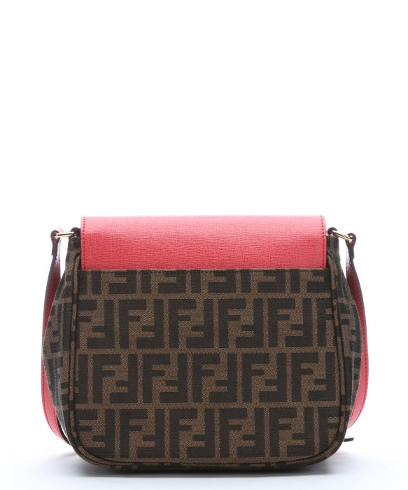 3e5c01b8 Lyst - Fendi Tobacco And Pink Zucca Canvas Crossbody Bag in Pink