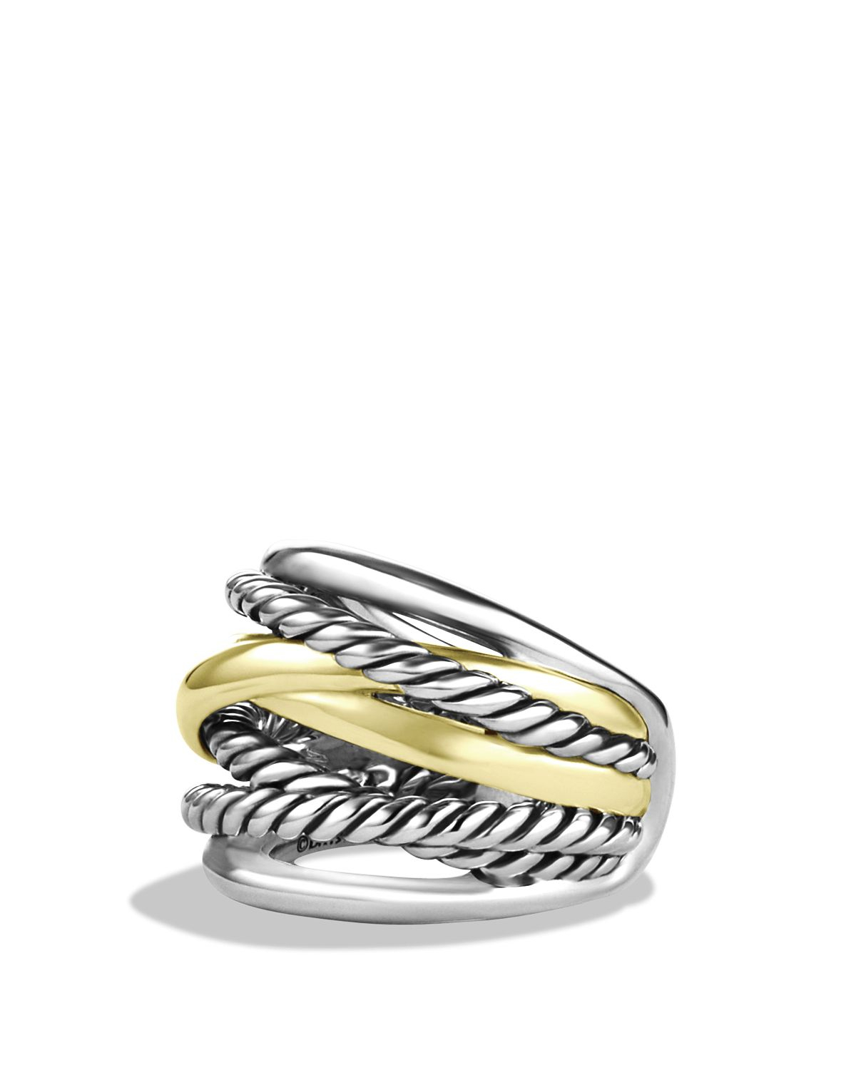 David Yurman Crossover Ring Yellow Gold