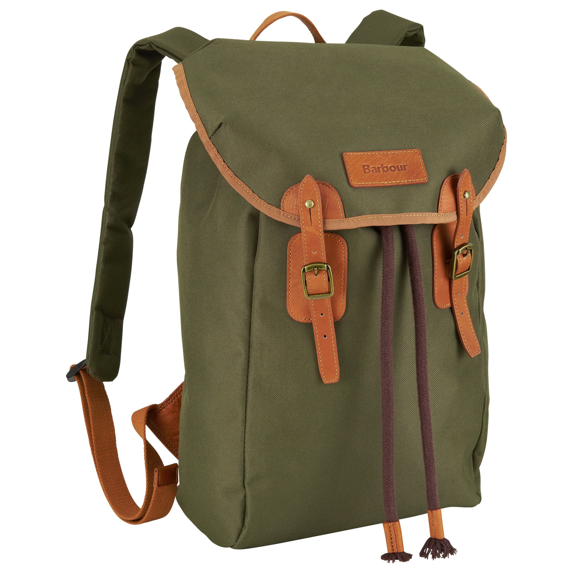 Barbour Lachie Waxed Cotton Backpack In Green For Men Lyst