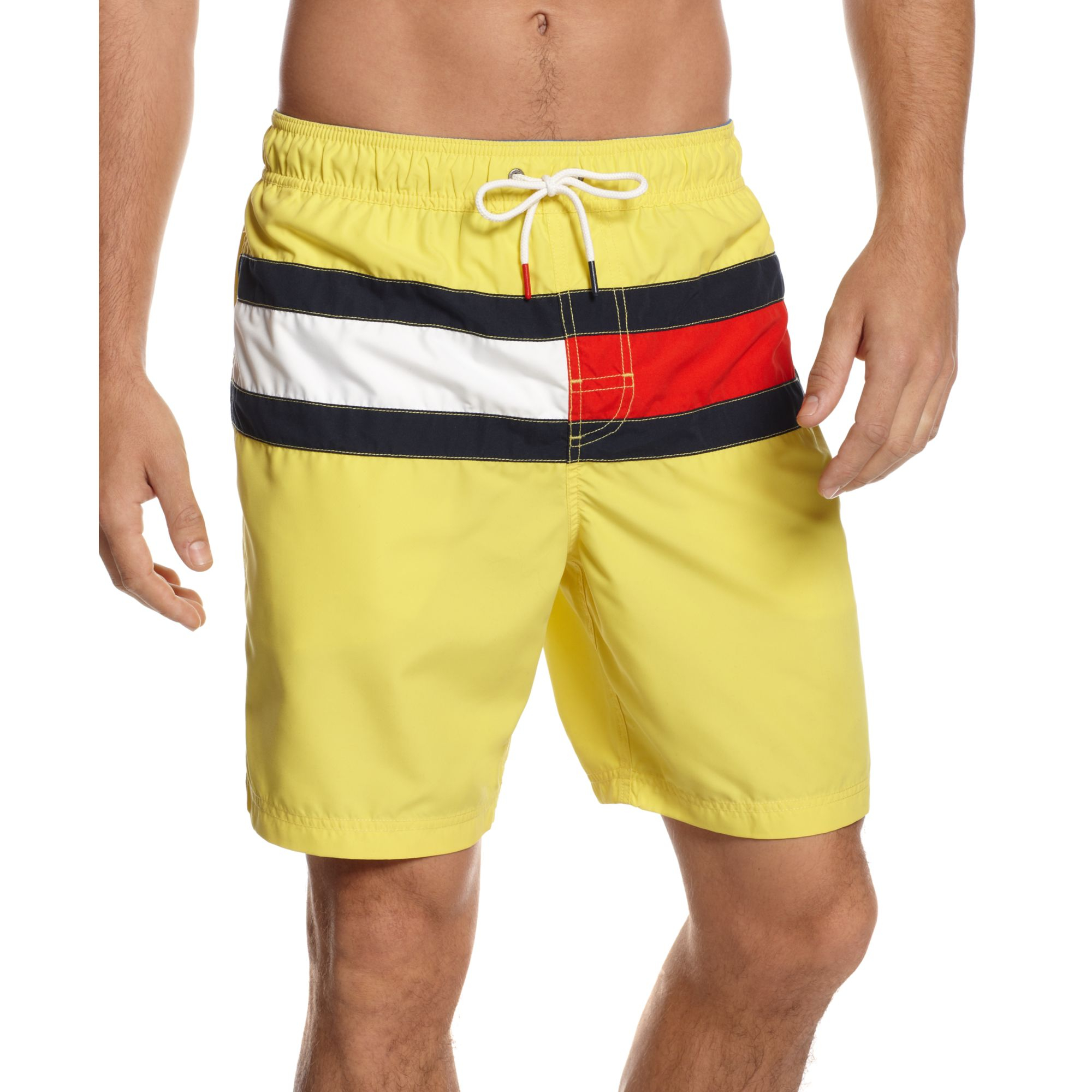 549e756bc1ca Lyst - Tommy Hilfiger Flag It Swim Trunks in Yellow for Men