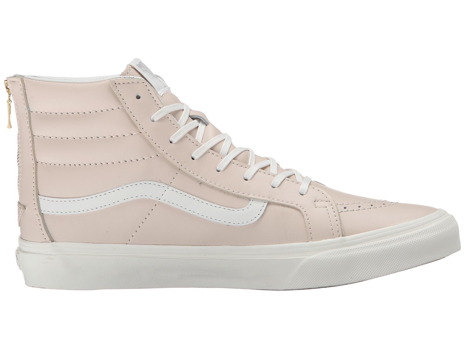 65876d5b15 Lyst - Vans Sk8-hi Slim Zip in Pink