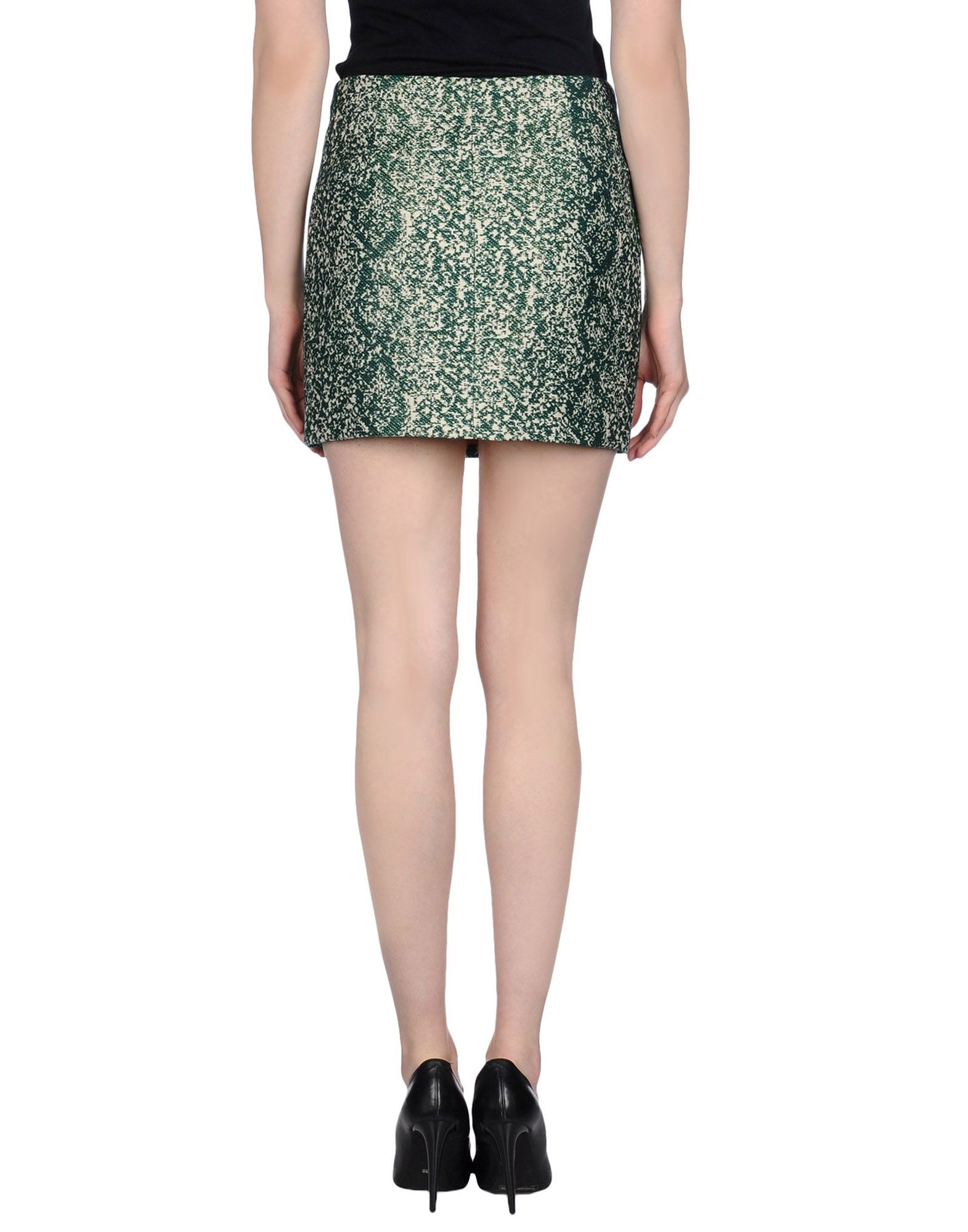 m grifoni denim green mini skirt lyst