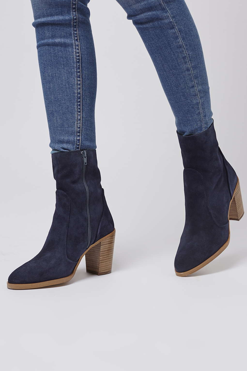 29952053b25c Topshop Magnificent Suede Sock Boots in Blue