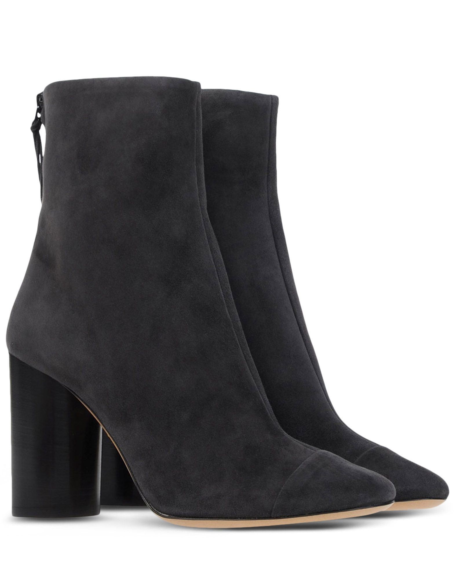isabel marant suede ankle boots in gray steel grey lyst. Black Bedroom Furniture Sets. Home Design Ideas