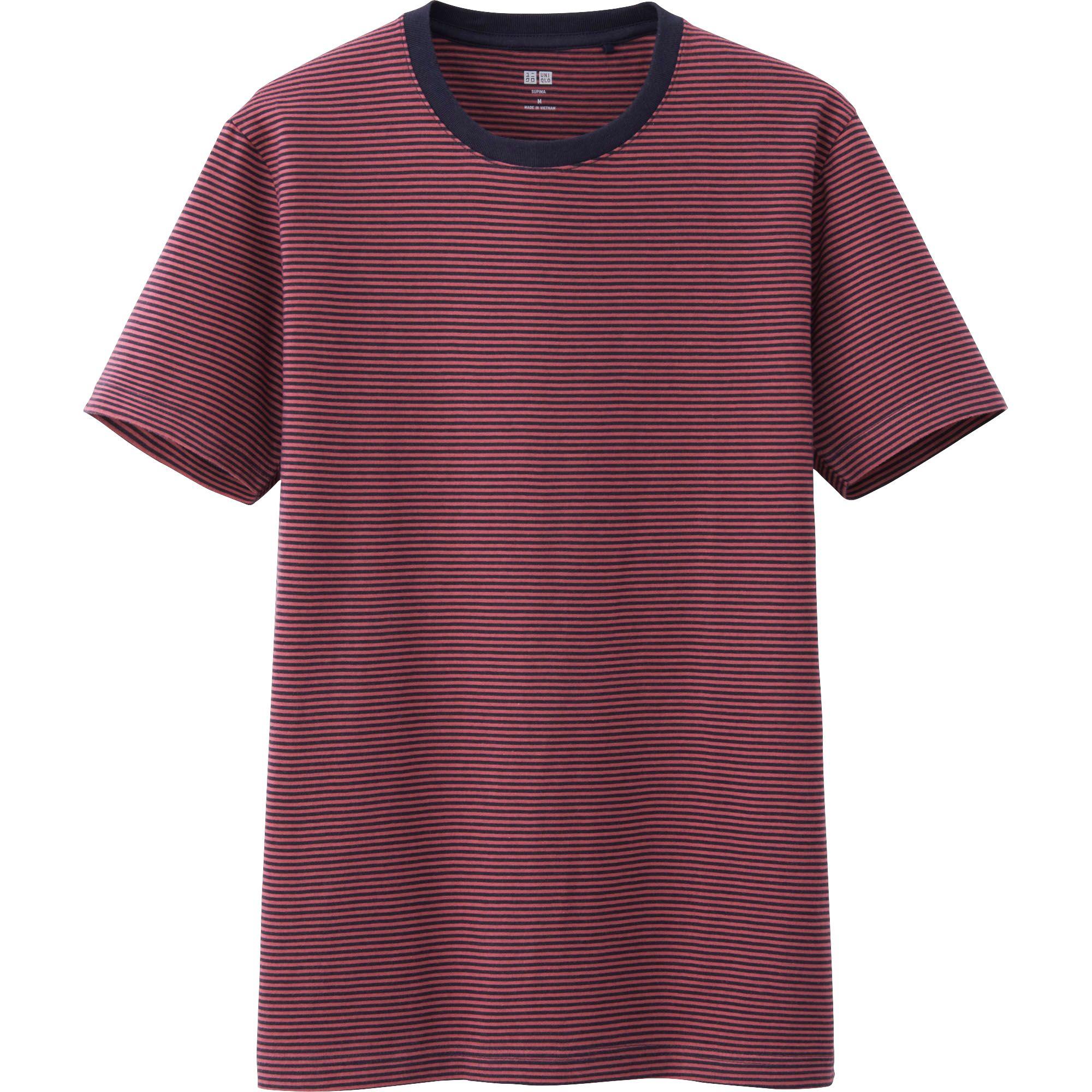 Uniqlo men supima cotton striped short sleeve tshirt in for Supima cotton dress shirts