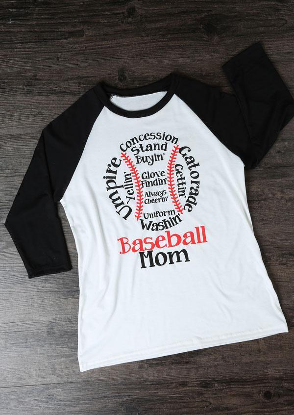e6f371969 Belle lily Uniform Washin' Baseball Mom Baseball T-shirt in White | Lyst