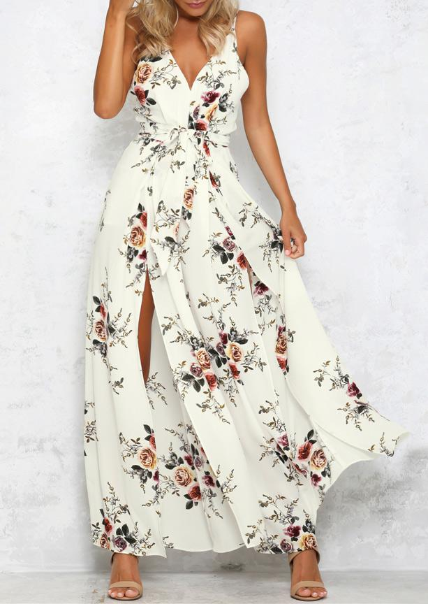 1aaa940ad269 Belle lily Floral Hollow Out Jumpsuit With Belt Without Necklace in ...