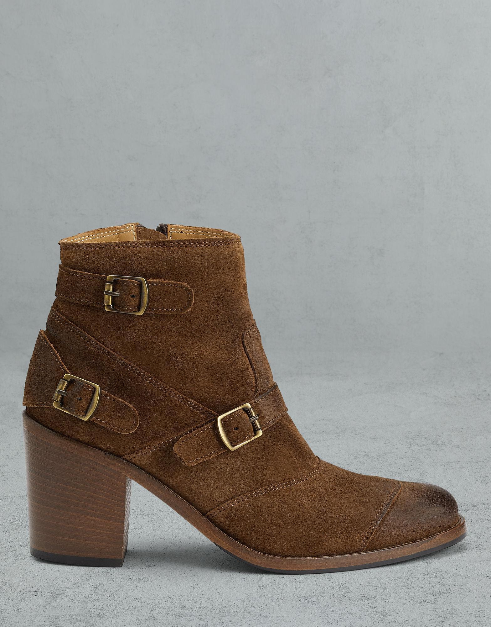 b94e03e00636 Lyst - Belstaff Trialmaster Short Boots in Brown