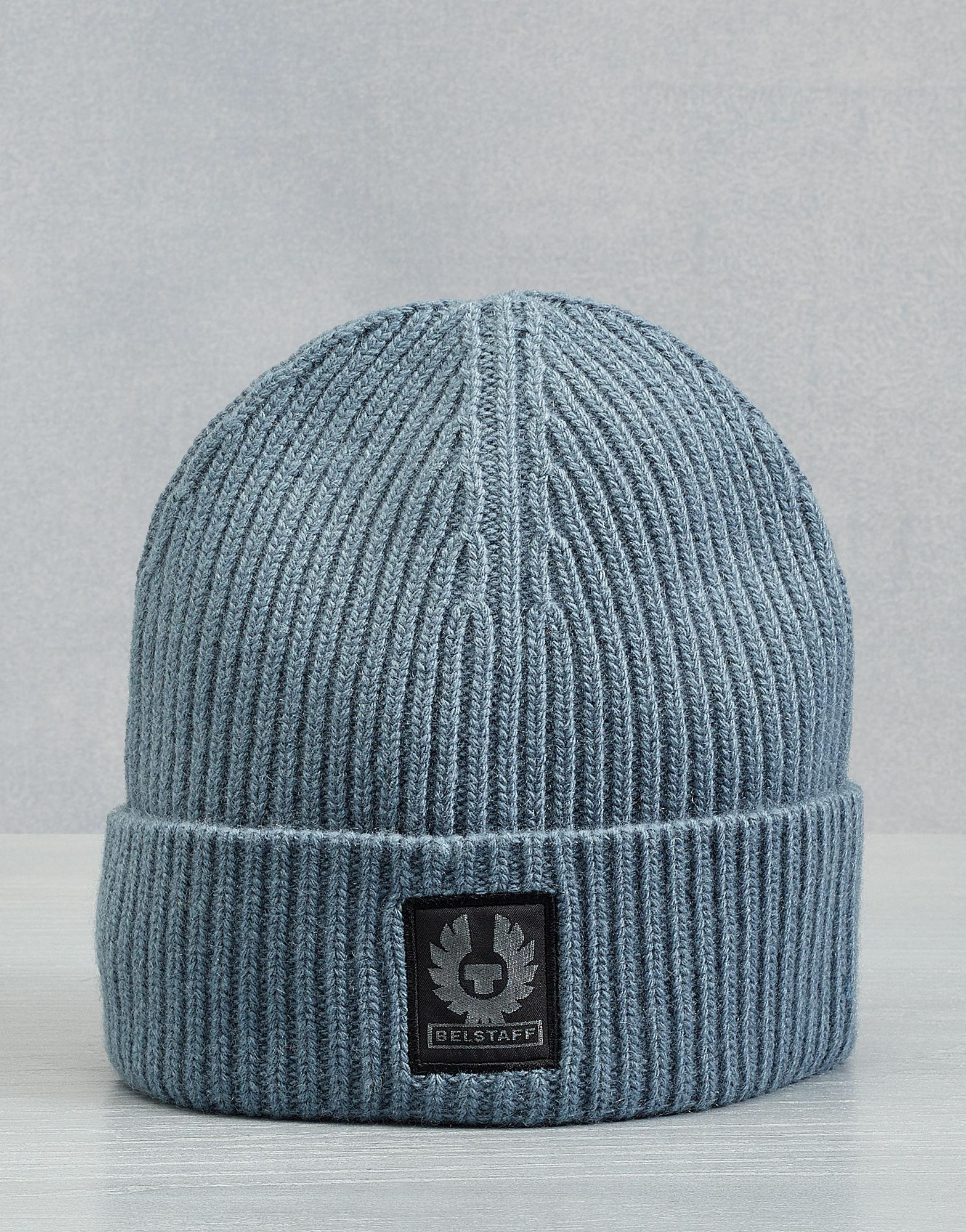 1b63f43c0b3a1 Belstaff Seabrook Knitted Hat in Blue for Men - Lyst