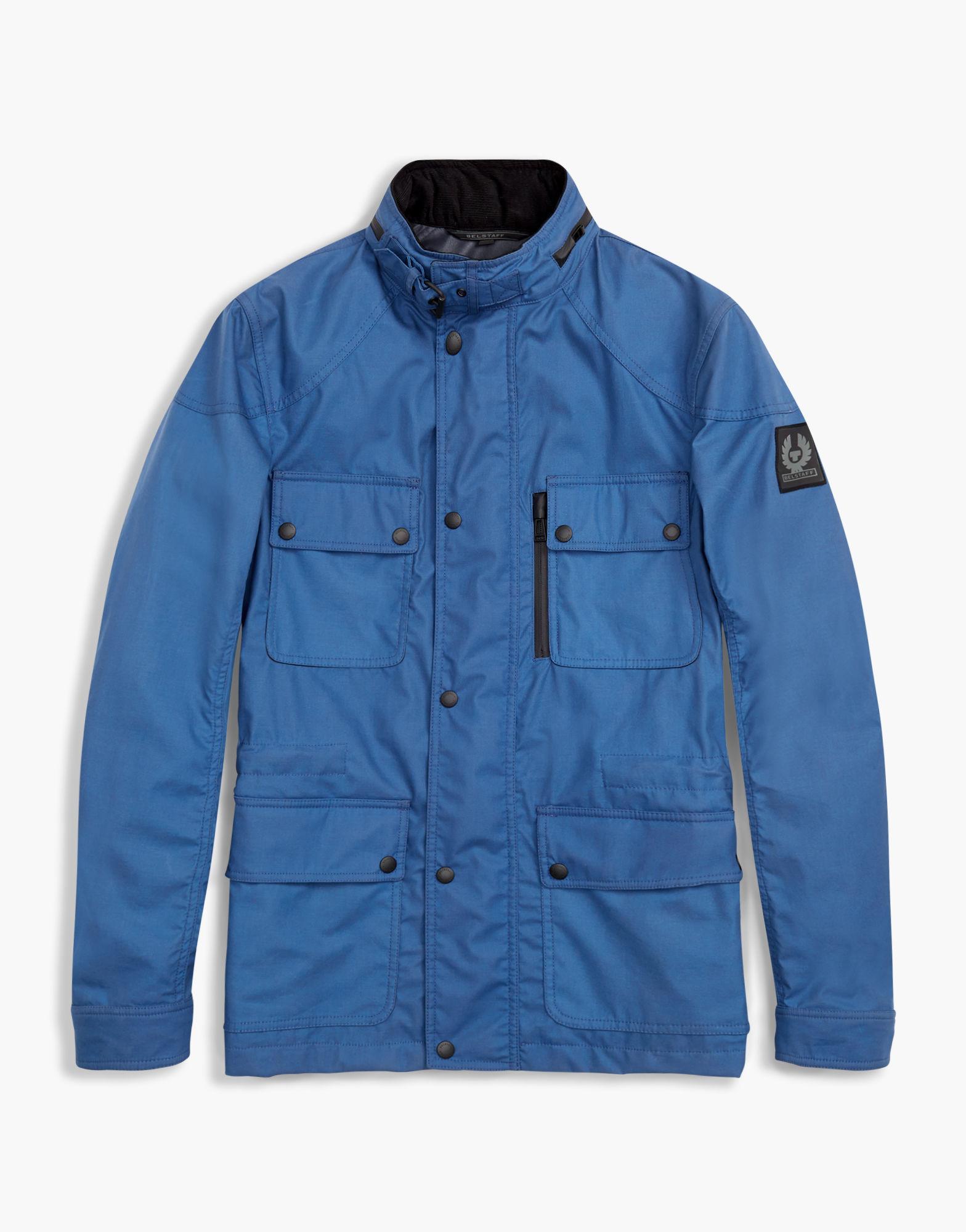 24f44dc67fe Belstaff Trialmaster Hooded Jacket in Blue for Men - Lyst