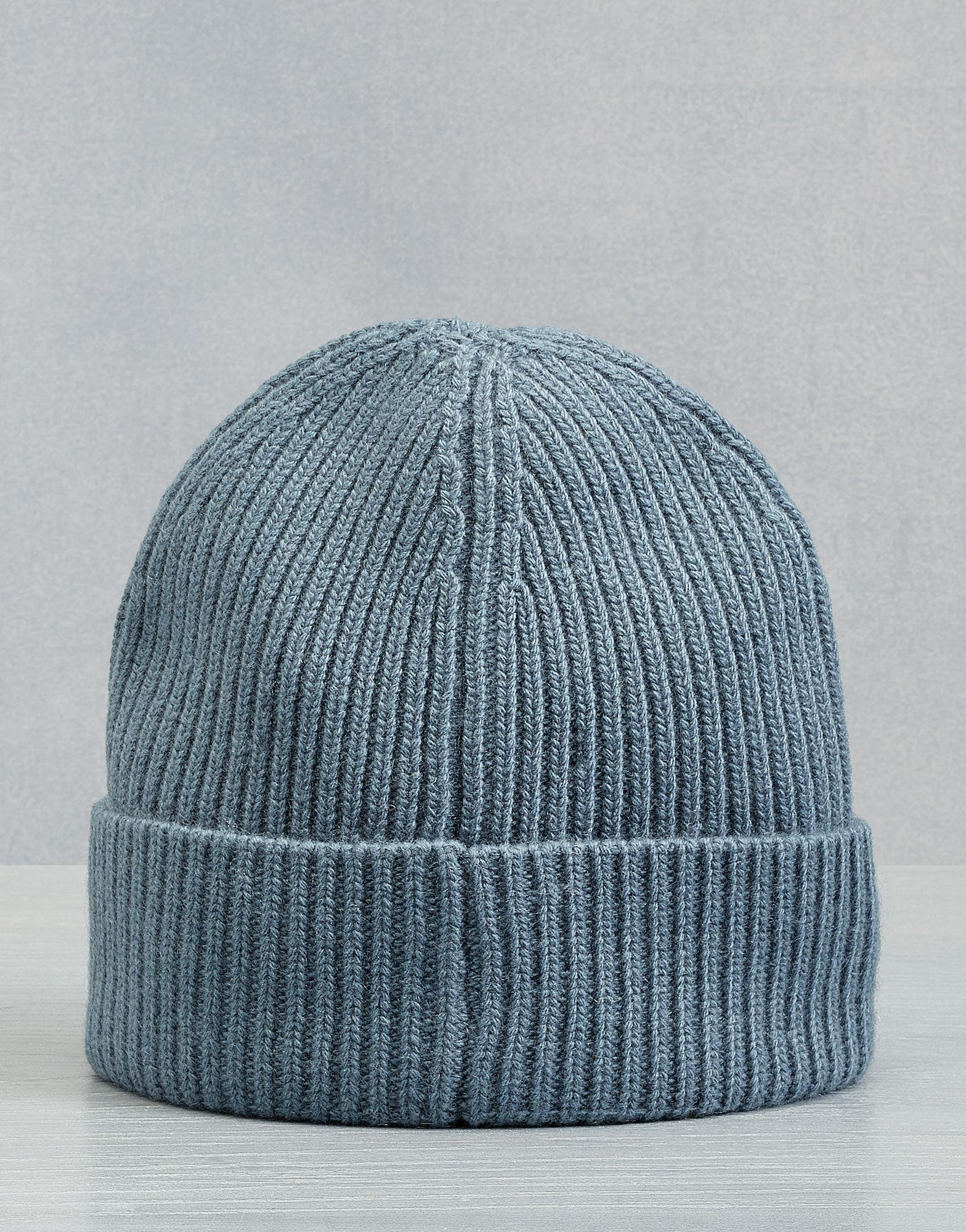 Lyst - Belstaff Seabrook Knitted Hat in Blue for Men 1a15632f0e52