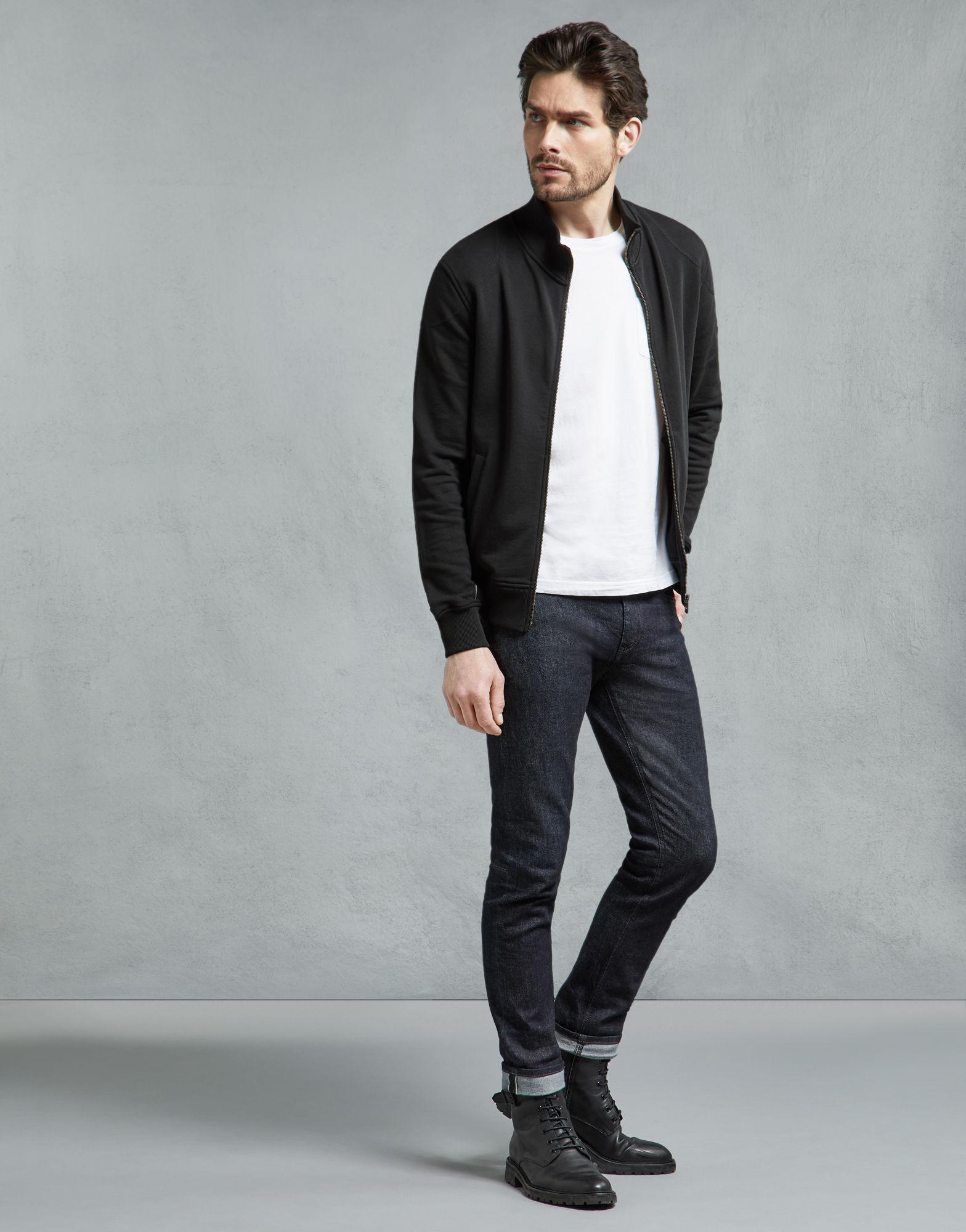 d7ad79672e50 Lyst - Belstaff Staplefield Zipped Sweatshirt in Black for Men
