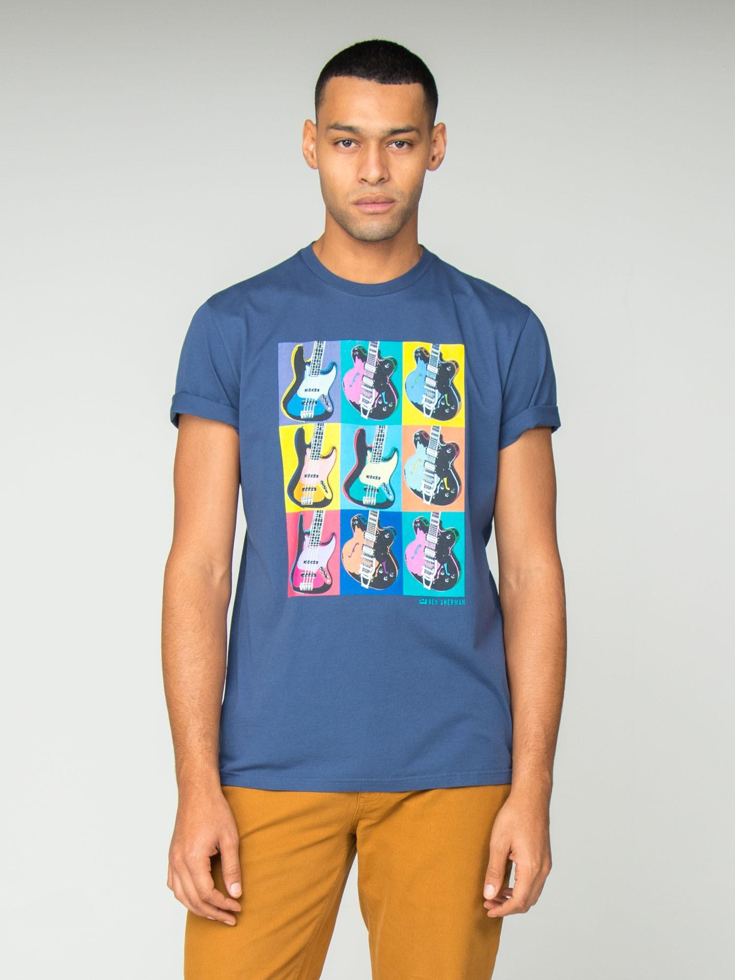 55786d868 Ben Sherman Pop Art Guitars T-shirt in Blue for Men - Save 29% - Lyst