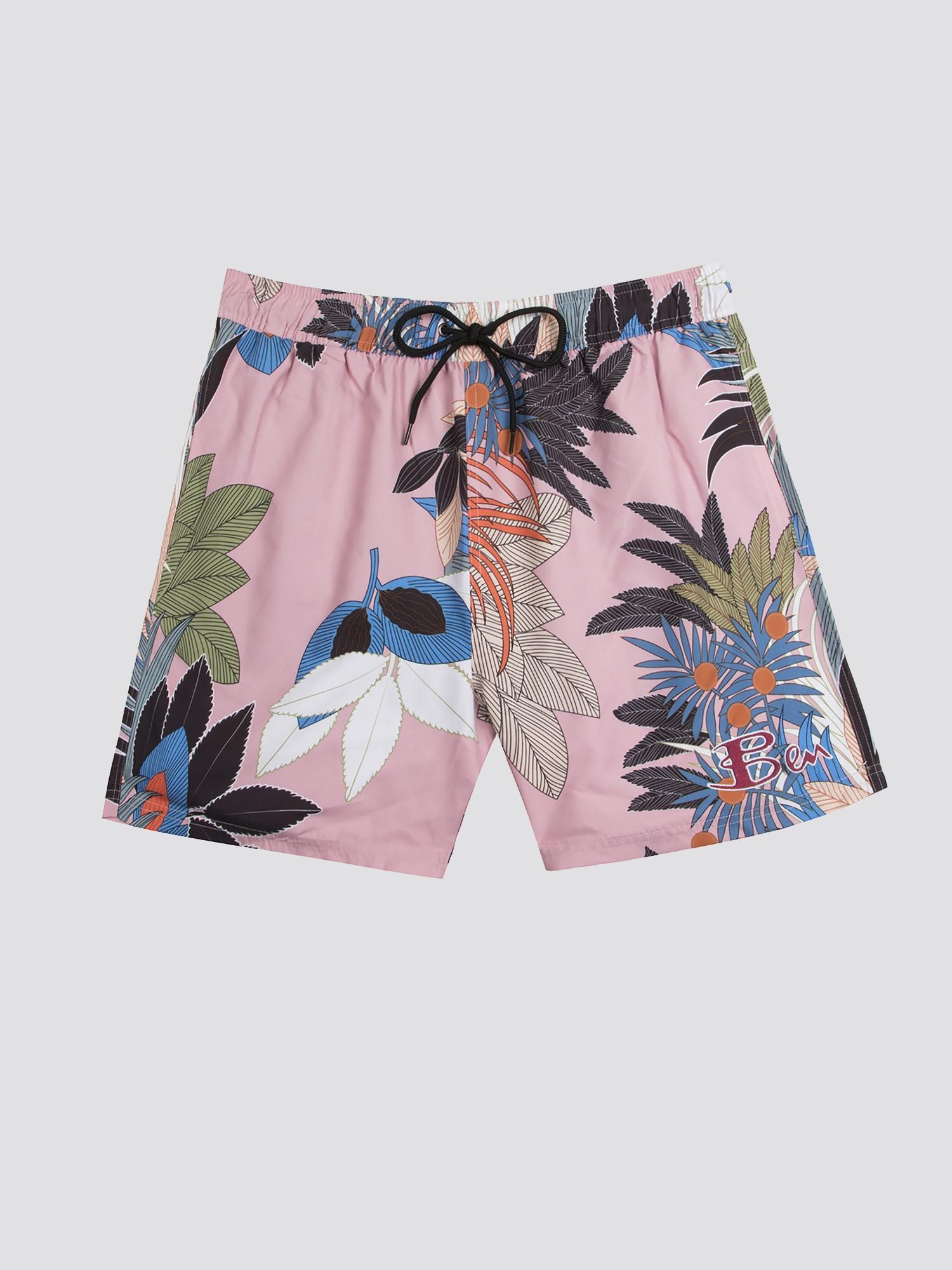 a618e4cb0c825 Ben Sherman Multi Tropical Print Swim Short for Men - Lyst
