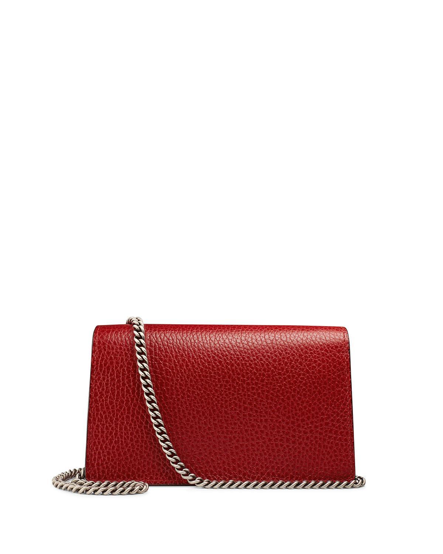 be21a59e5329 Gucci Dionysus Leather Super Mini Bag in Red - Lyst