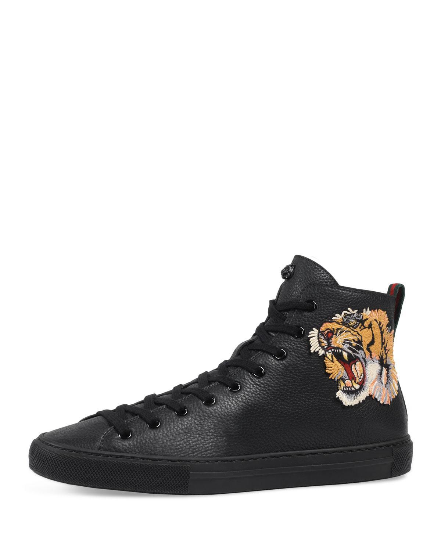 ec9c3ecbc90 Gucci - Black Men s Major High-top Sneakers W tiger Patch for Men -. View  fullscreen