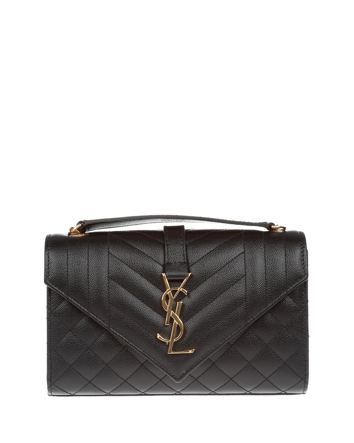 Saint Laurent. Women s Black Monogram Ysl Envelope Small Chain Shoulder Bag  ... 026a88a1b8