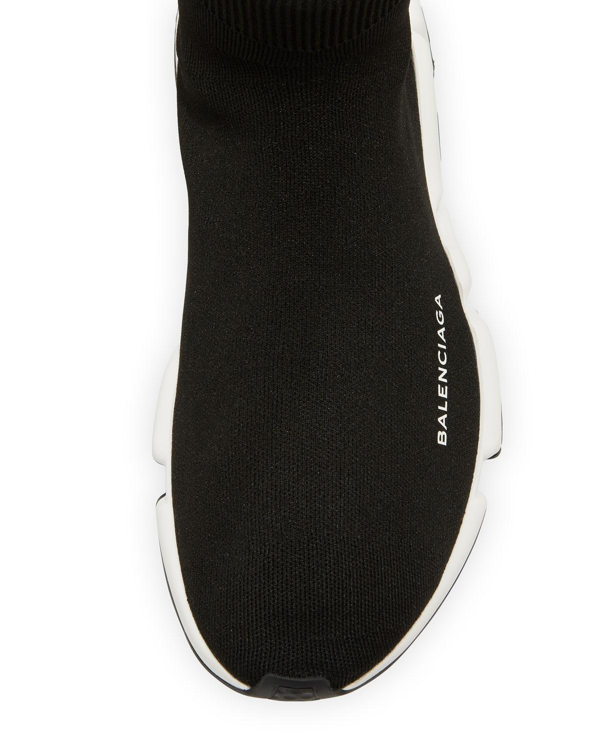 4ebefe5066f7b Lyst - Balenciaga Allover Logo Speed Lace-up Sneaker. in Black for Men -  Save 17%