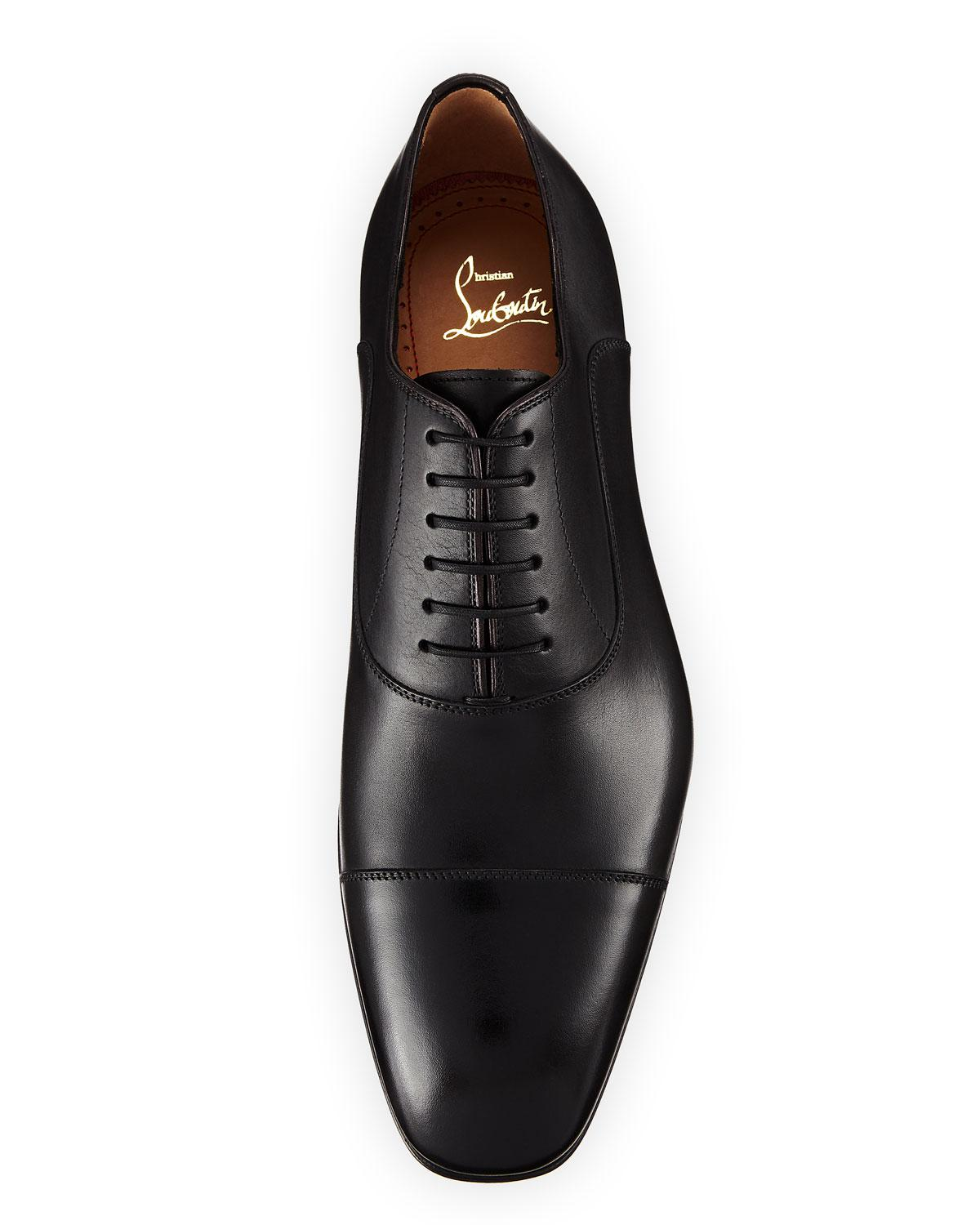 0c390cbd429 Lyst - Christian Louboutin Greggo Men s Lace-up Leather Dress Shoe in Black  for Men