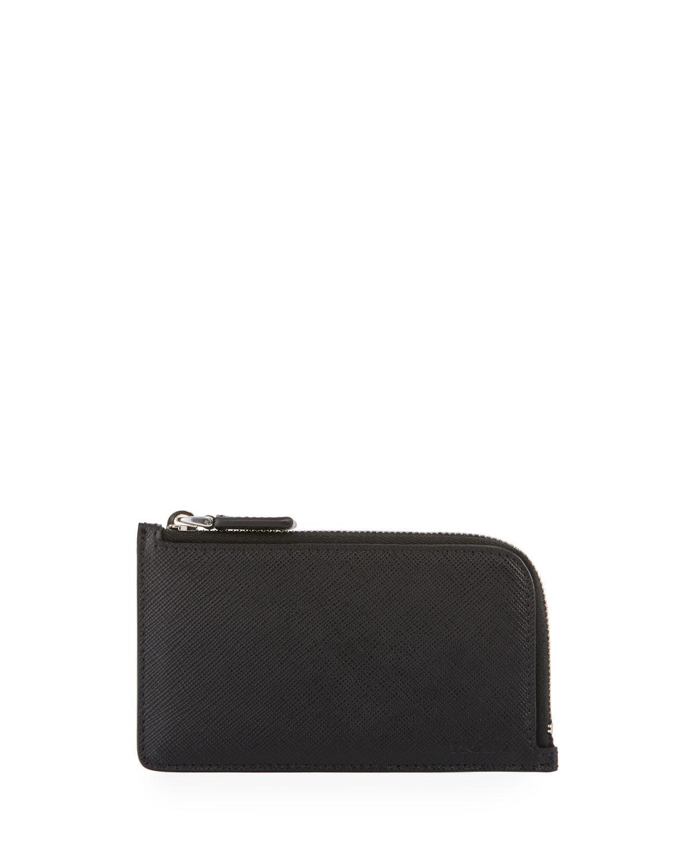 3816de1b2b3 Lyst - Prada Saffiano Leather Portfolio Card Case in Black for Men