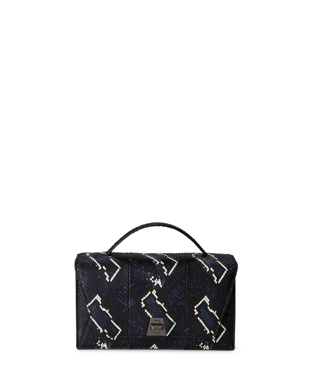 26090ce79d Lyst - Akris Anouk City Python Shoulder Bag in Blue