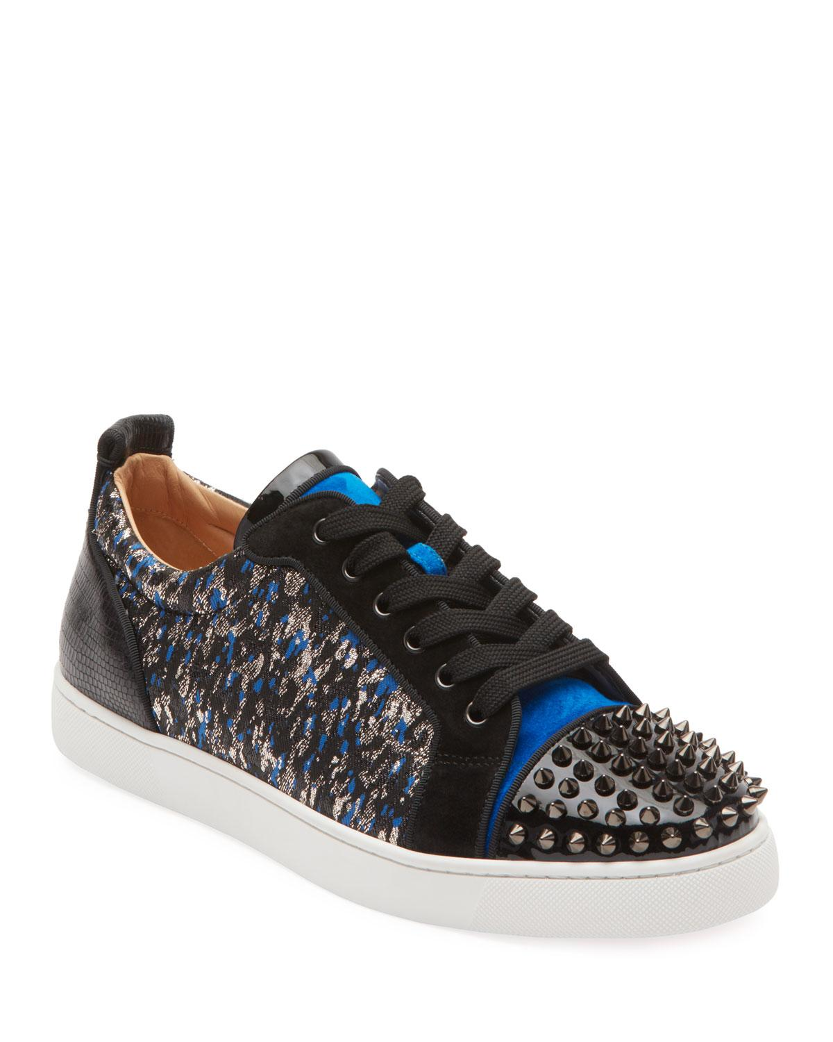 9a5202ca7e6 Christian Louboutin Men's Louis Junior Spike Low-tip Sneakers for ...