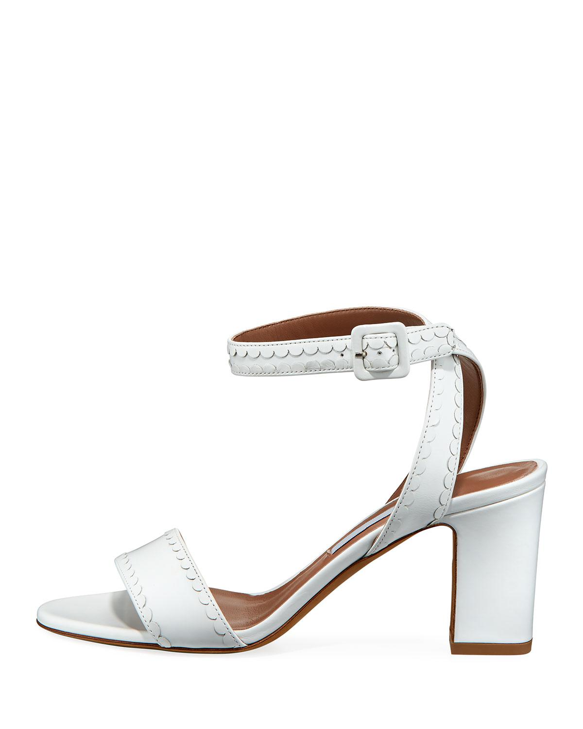 e69d077a047 Lyst - Tabitha Simmons Leticia Frill Leather Sandals in White