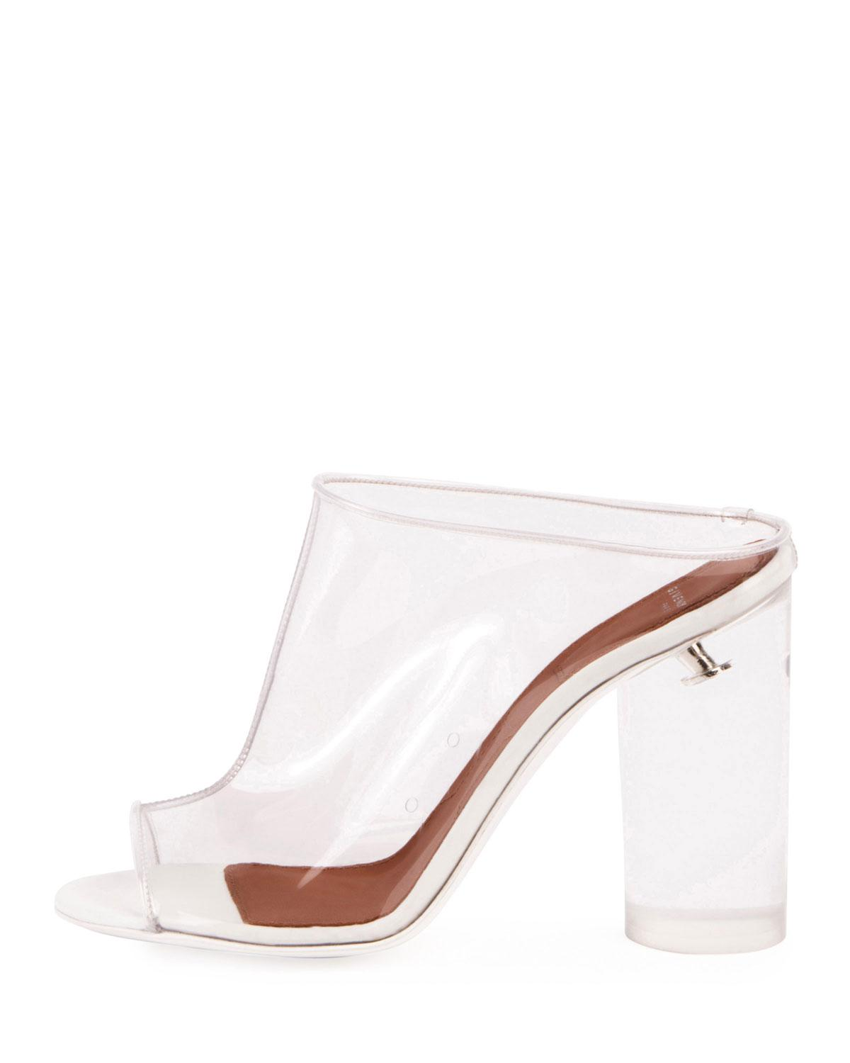 8bf78378e41 Lyst - Givenchy Clear Pvc Mule Sandal in White