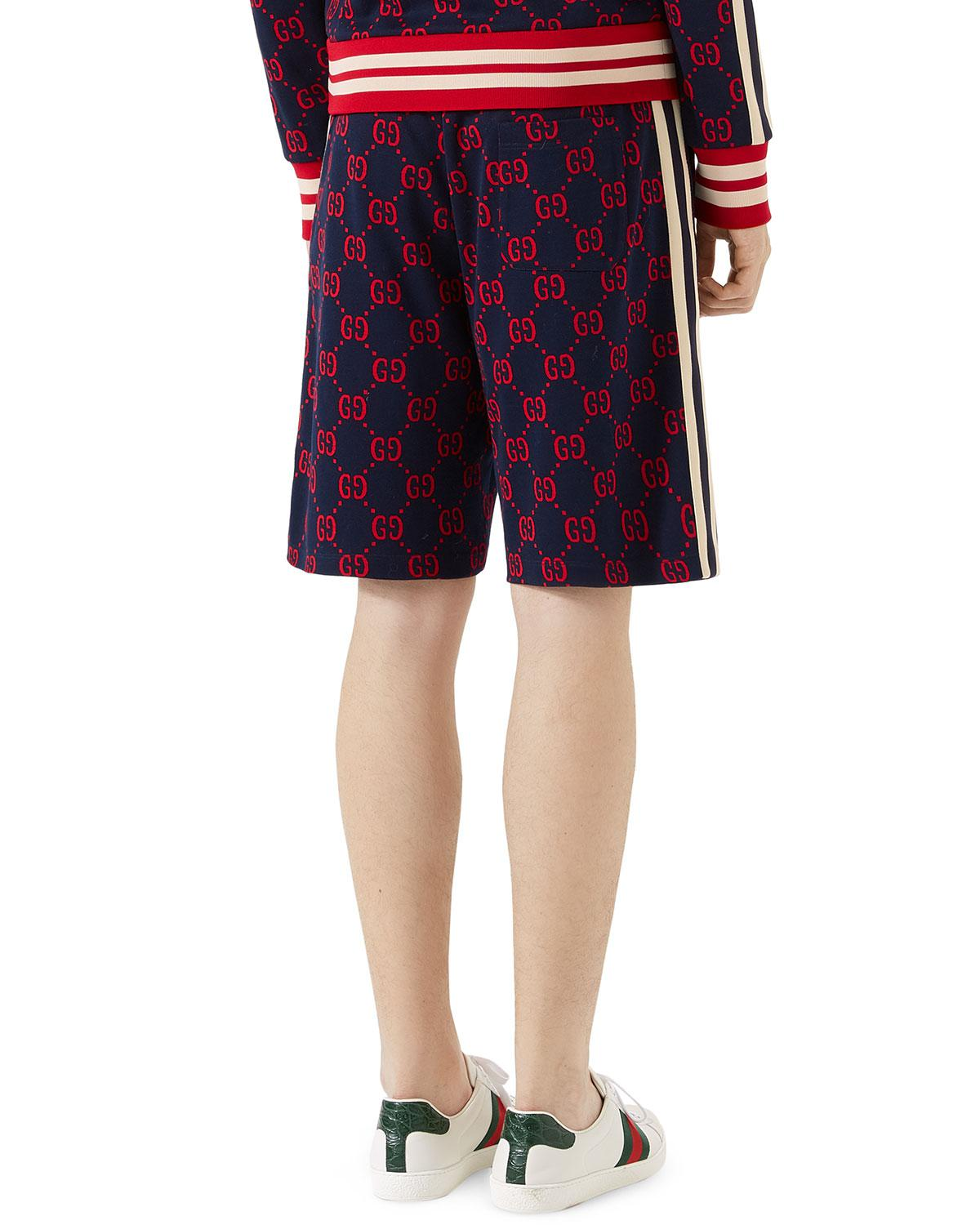 eb3627463a Gucci Gg Jacquard Shorts in Blue for Men - Lyst