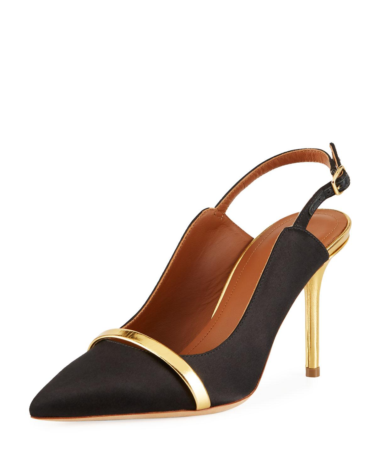 7bc690274 Malone Souliers Marion 85mm Slingback Pumps in Black - Lyst