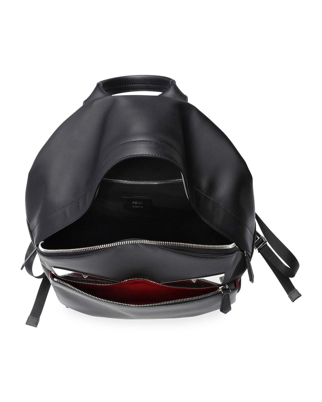 7c9b371b8c05 Lyst - Fendi Monster Metal Mirror Eyes Backpack in Black