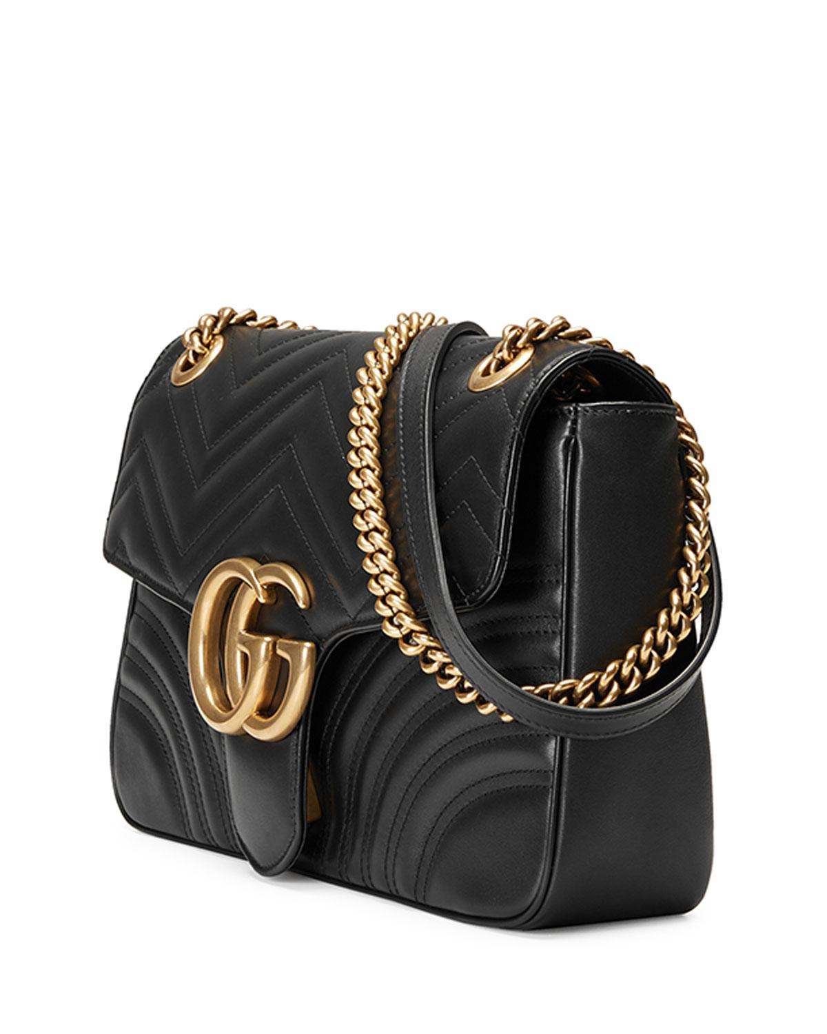 edc45fc0d23d Gucci GG Marmont Medium Matelassé Shoulder Bag in Black - Save 45% - Lyst