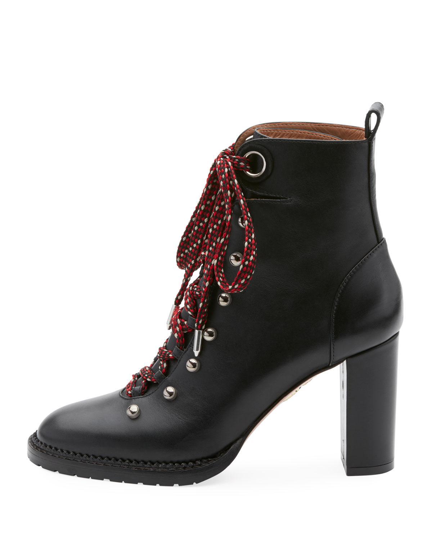 Leather Hiker Boots Aquazzura lsXrnubU