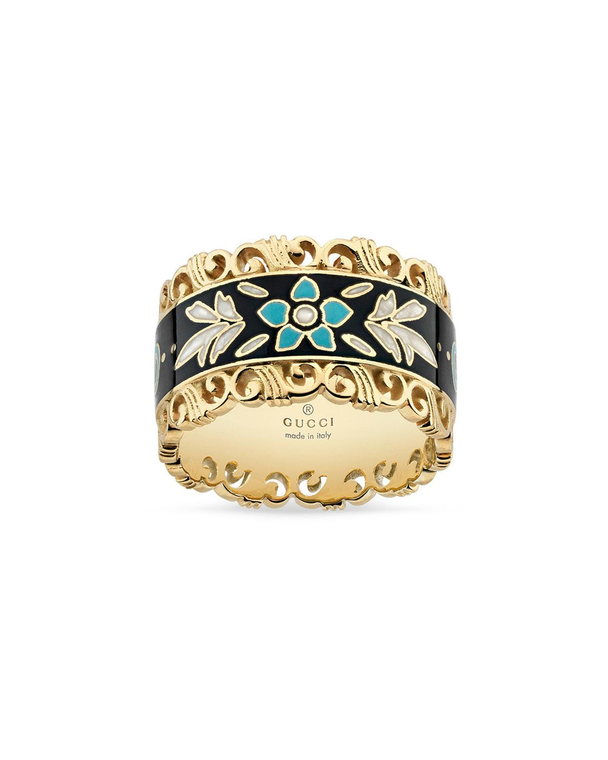 c117497964e Gucci - Metallic Icon Blooms Band Ring In 18k Gold - Lyst. View fullscreen
