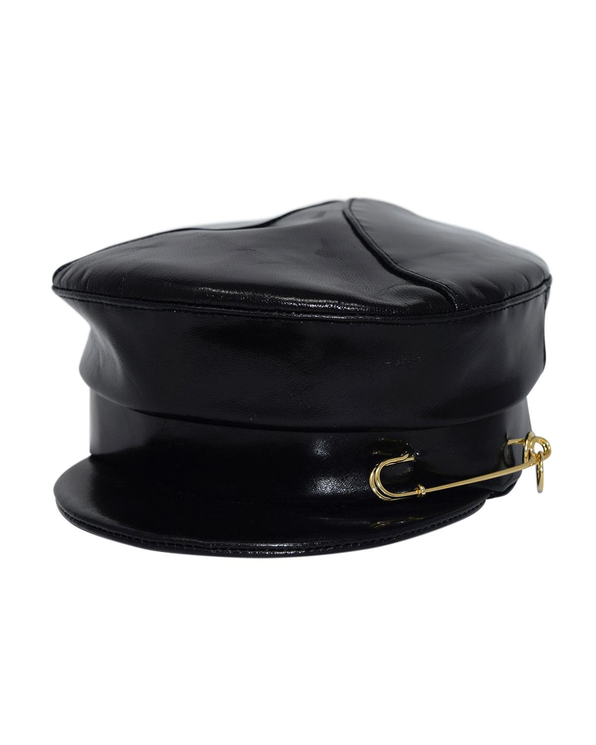 Lyst - Gigi Burris Millinery Georgie Leather Newsboy Hat W  Safety ... 2d668d539cca