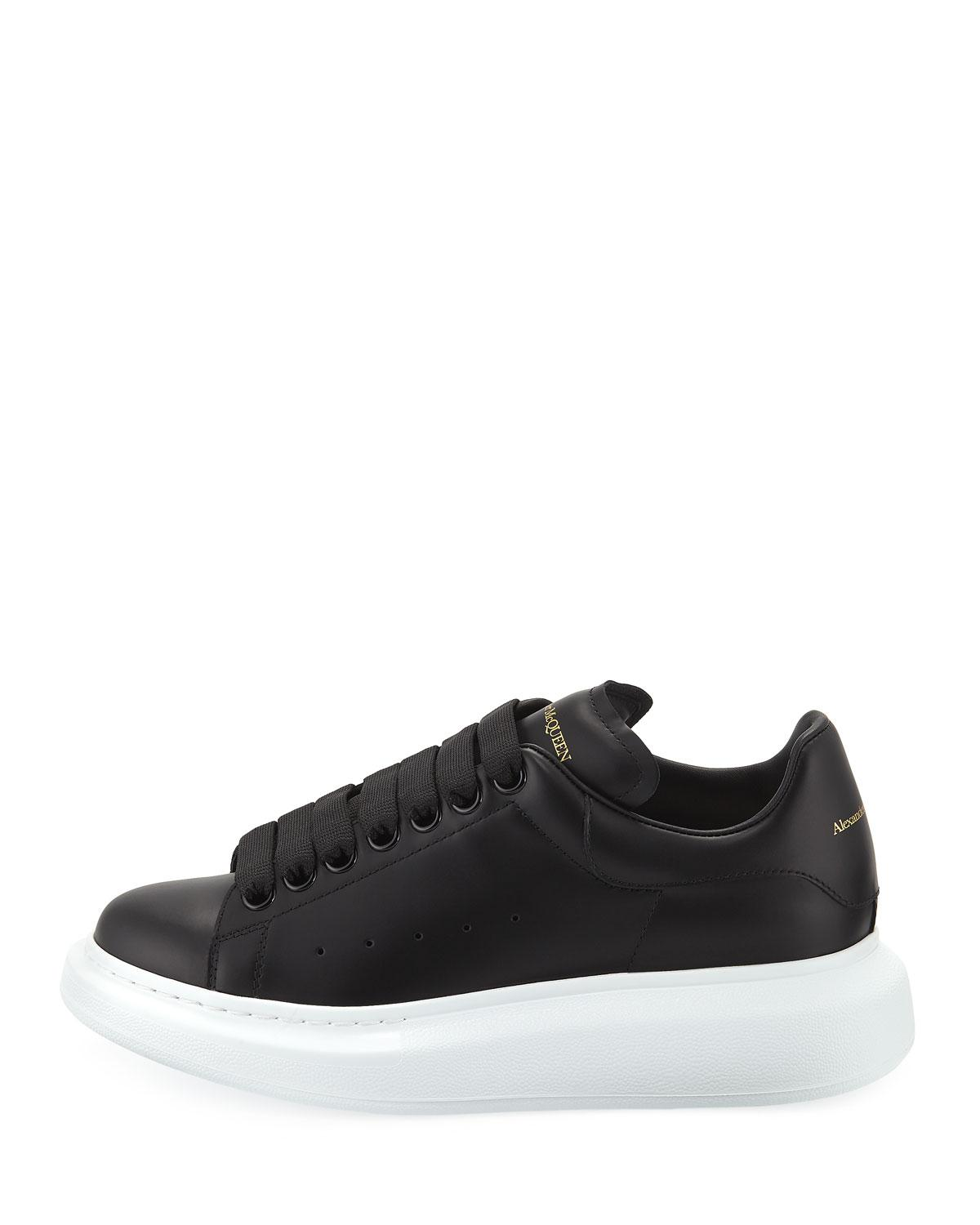 3895c415d Lyst - Alexander McQueen Pelle Lace-up Sneakers in Black